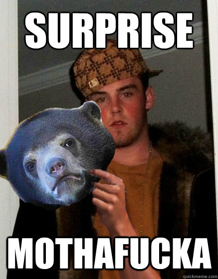 surprise mothafucka - scumbagstevebear