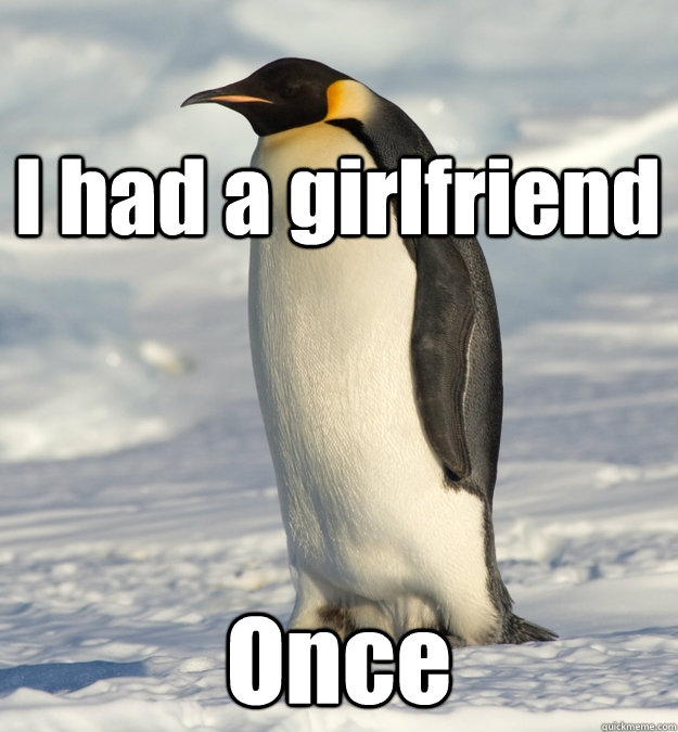 i had a girlfriend once - Lonely Penguin
