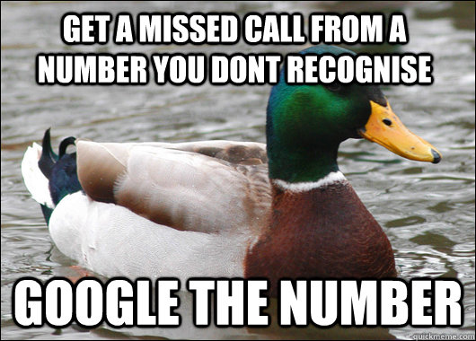 get a missed call from a number you dont recognise google th - Actual Advice Mallard