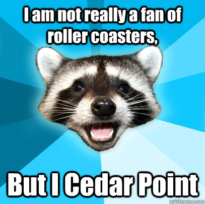 i am not really a fan of roller coasters but i cedar point - Lame Pun Coon