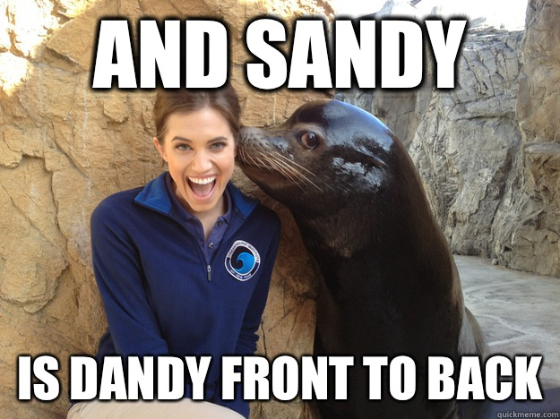 And sandy Is dandy front to back  - Crazy Secret