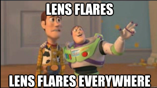 lens flares lens flares everywhere - Buzz and Woody