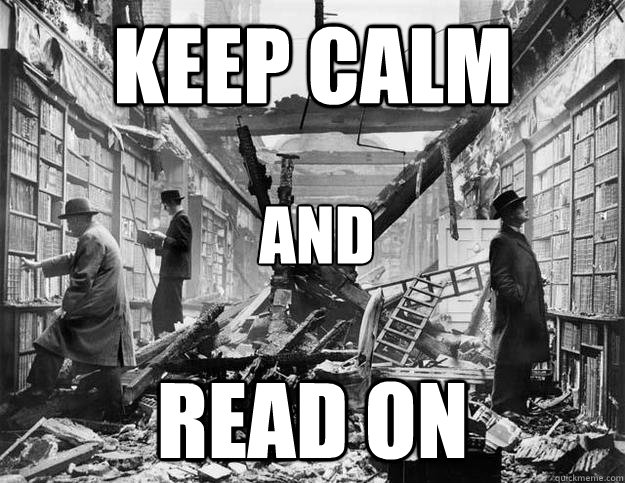 keep calm read on and - 