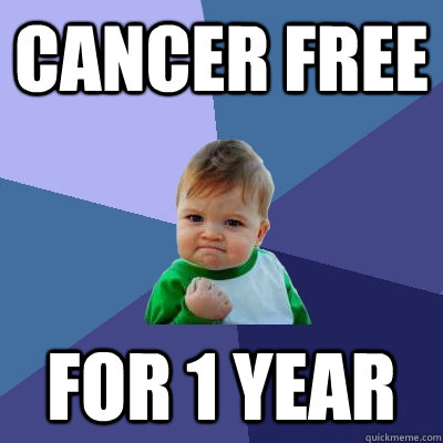 cancer free for 1 year - Success Kid