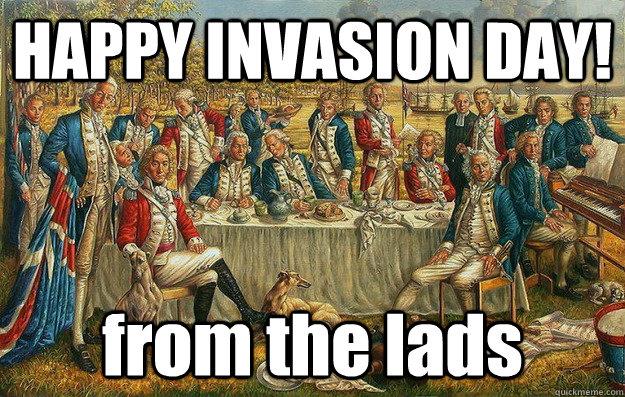 3sq4x3 happy invasion day! australia