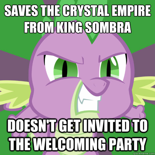 saves the crystal empire from king sombra doesnt get invit - Insanity Spike