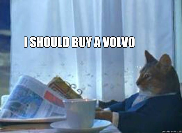 i should buy a volvo  - I should buy a boat cat