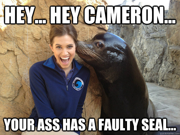 hey hey cameron your ass has a faulty seal  - Crazy Secret