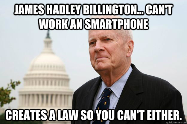 james hadley billington cant work an smartphone creates  - 