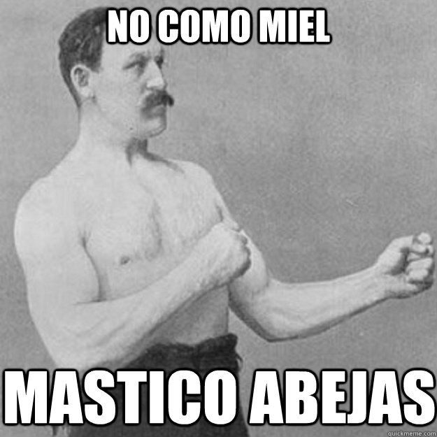 no como miel mastico abejas - overly manly man