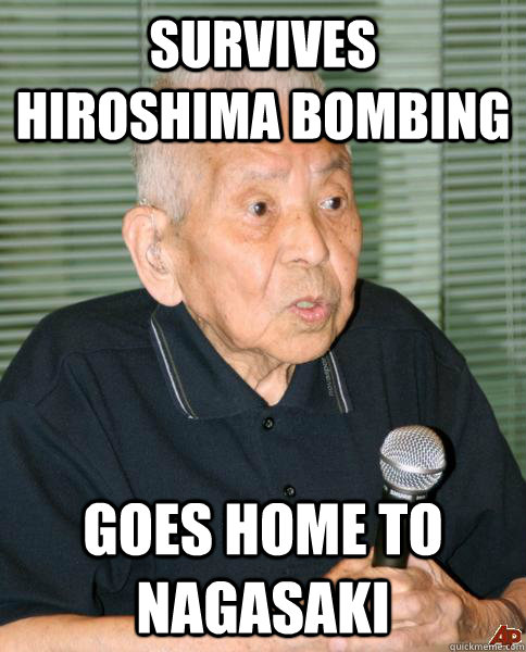 survives hiroshima bombing goes home to nagasaki - Bad Luck Tsutomu