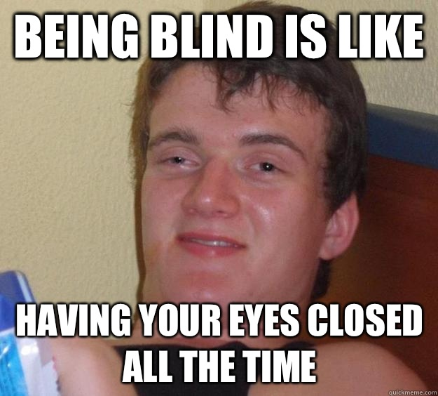 Being blind is like should be called Vietnoms - 10 Guy