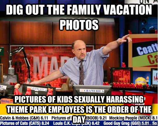 dig out the family vacation photos pictures of kids sexually - Mad Karma with Jim Cramer