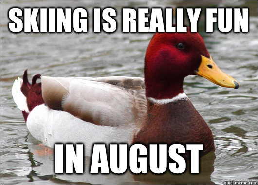 Skiing is really fun In August - Malicious Advice Mallard