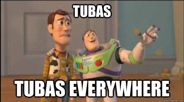 tubas tubas everywhere - buzz and woody