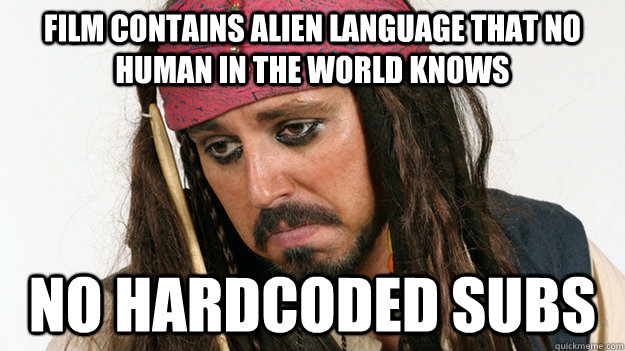 film contains alien language that no human in the world know - 