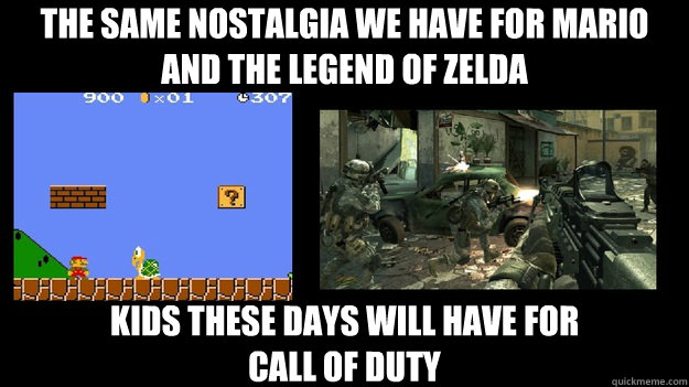 the same nostalgia we have for mario and the legend of zelda -