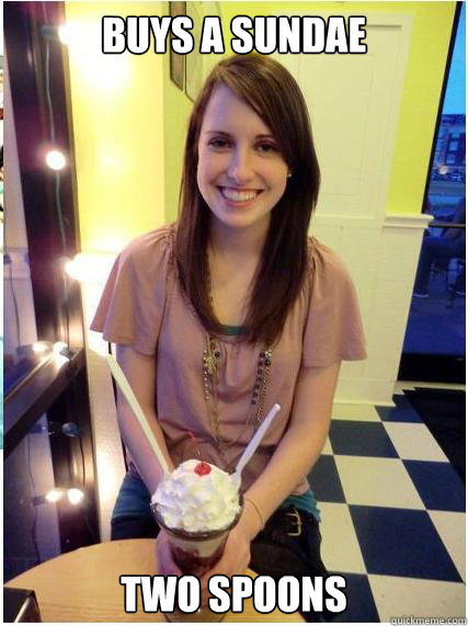 buys a sundae two spoons - Misunderstood Girlfriend