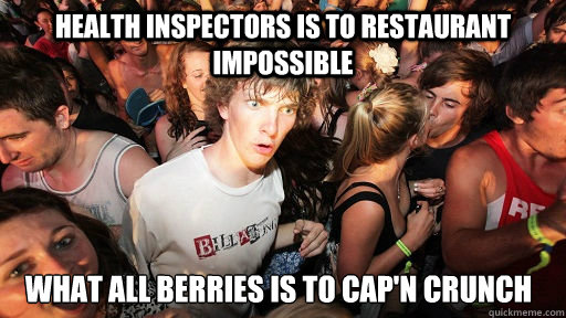 health inspectors is to restaurant impossible what all berri - Sudden Clarity Clarence