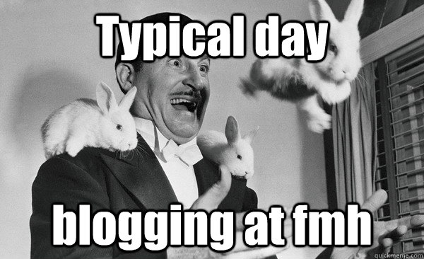 typical day blogging at fmh -
