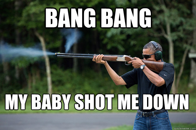 bang bang my baby shot me down  - Obamas Got A Gun