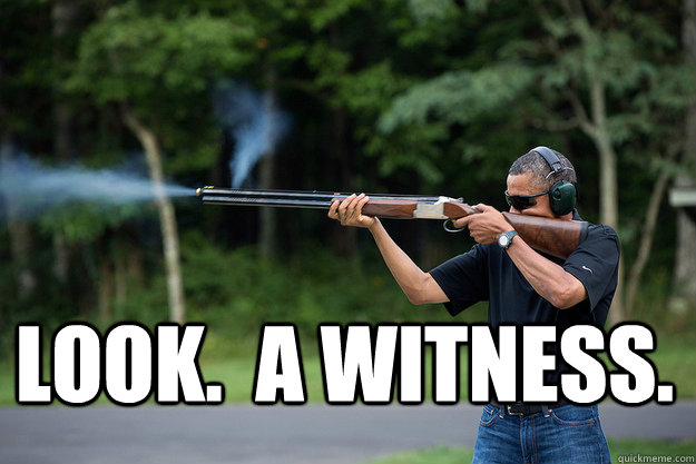 look a witness - Obamas Got A Gun
