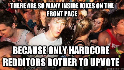 there are so many inside jokes on the front page because onl - Sudden Clarity Clarence