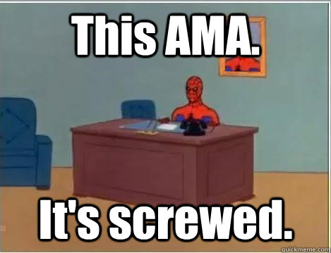 this ama its screwed - Spiderman Desk