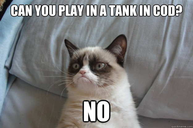 can you play in a tank in cod no - GrumpyCatOL
