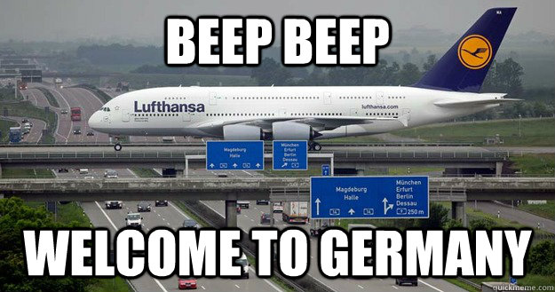 beep beep welcome to germany - Humble Civic Airplane
