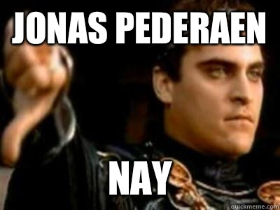 Jonas Pederaen Nay - Downvoting Roman