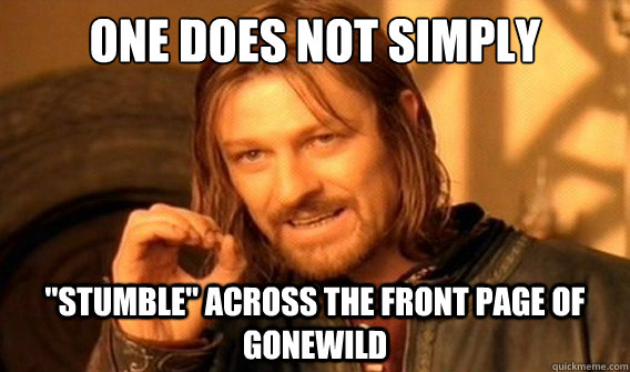one does not simply stumble across the front page of gonew - onedoesnotsimply