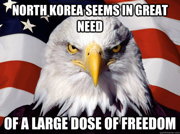 north korea seems in great need of a large dose of freedom - One-up America