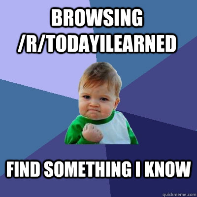 browsing rtodayilearned find something i know - Success Kid