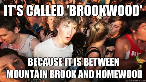 its called brookwood because it is between mountain broo - Sudden Clarity Clarence