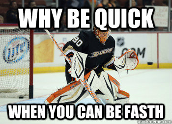 why be quick when you can be fasth - Viktor Fasth