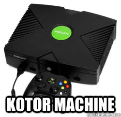 kotor machine - XBOX