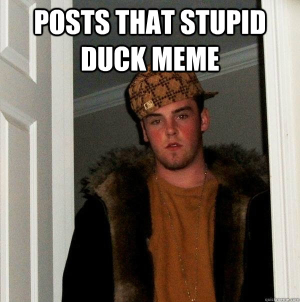 posts that stupid duck meme  - Scumbag Steve
