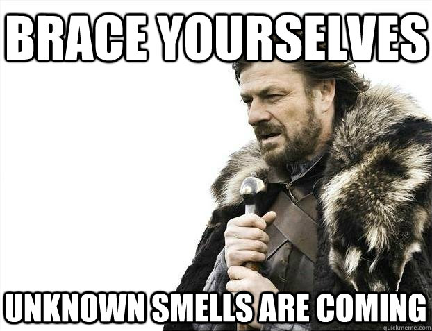 brace yourselves unknown smells are coming - BRACEYOSELVES