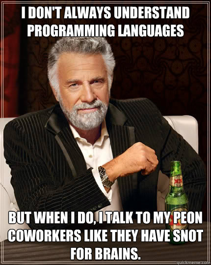 i dont always understand programming languages but when i d - The Most Interesting Man In The World