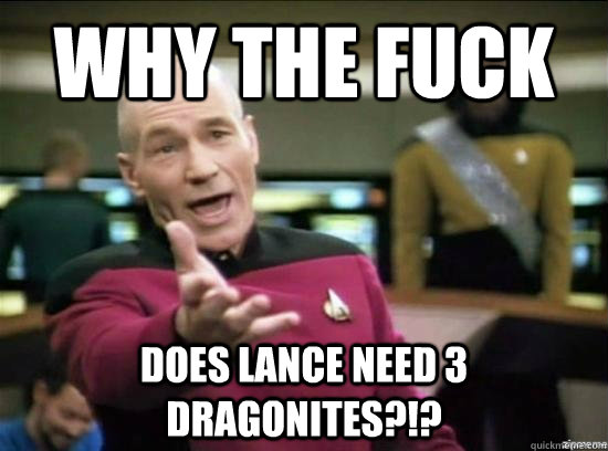 why the fuck does lance need 3 dragonites - why the fuck picard