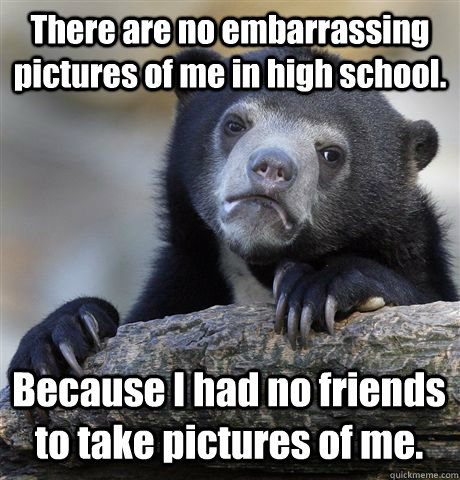 there are no embarrassing pictures of me in high school be - Confession Bear