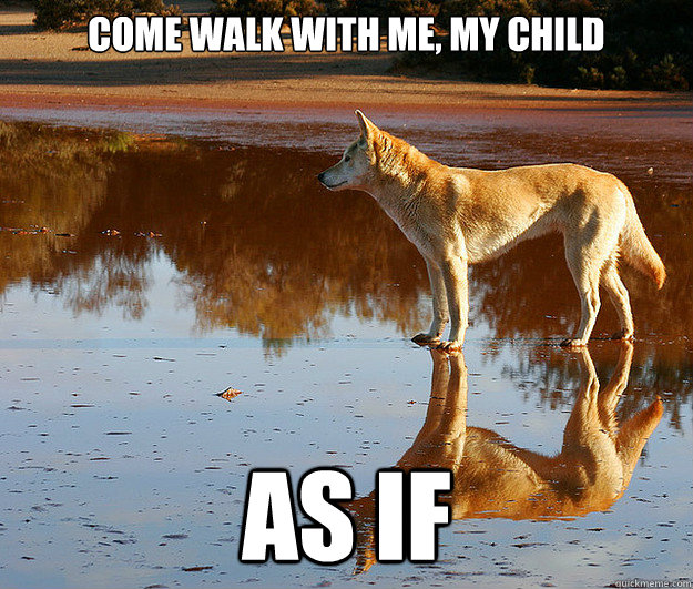 come walk with me my child as if - Dickhead Divine Dingo