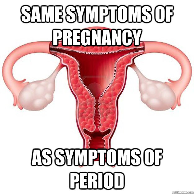 same symptoms of pregnancy as symptoms of period - scumbag organs