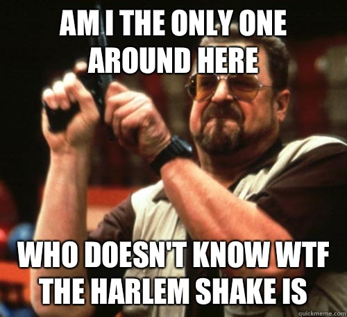Am i the only one around here Who doesnt know wtf the Harlem - Am I The Only One Around Here