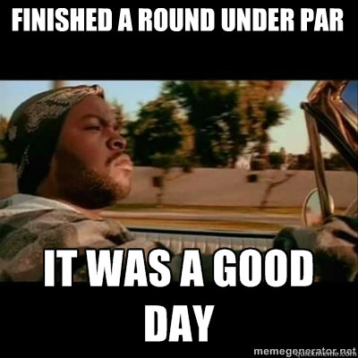 finished a round under par - ICECUBE