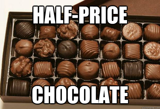 halfprice chocolate - Chocolates