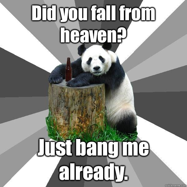 Did you fall from heaven Just bang me already - Pickup-Line Panda