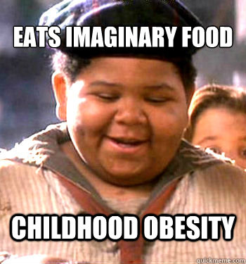 eats imaginary food childhood obesity -