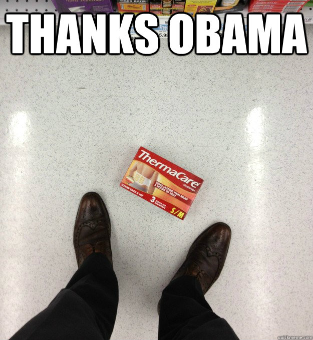 thanks obama  - Thanks a lot